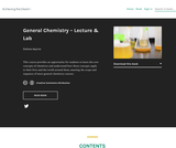 General Chemistry - Lecture and Lab