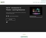 Fall 17 – Introduction to Theater – Learning Resources