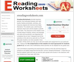Ereading Worksheets | OER Commons