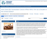 How Does My Cambodian Culture Affect Who I Am as a Student in the United States?