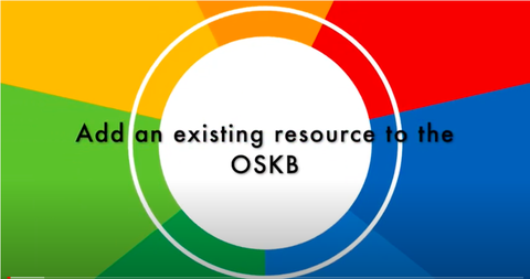 Add an existing resource to the OSKB
