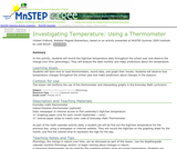 Investigating Temperature: Using a Thermometer