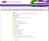 K-Act. 04: Shared Reading: Wishy-Washy Day