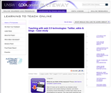 Teaching with web 2.0 technologies: Twitter, wikis & blogs - Case study
