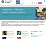 Afterschool Alliance: Afterschool and STEM