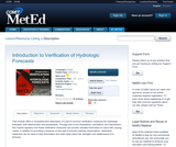 Introduction to Verification of Hydrologic Forecasts