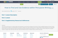 How to Find and Use Evidence within Persuasive Writing