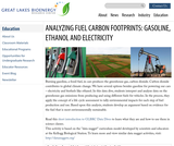Analyzing Fuel Carbon Footprints: Gasoline, Ethanol and Electricity