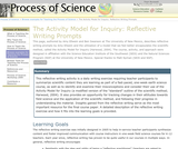 The Activity Model for Inquiry: Reflective Writing Prompts