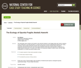 The Ecology of Opuntia Fragilis (Nuttall) Haworth