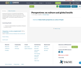Perspectives. on culture and global health