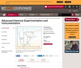 Advanced Chemical Experimentation and Instrumentation, Fall 2007
