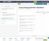 Critical-Thinking Checklist—High School