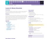 CS Fundamentals 3.8: Binary Bracelets