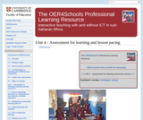 Assessment for Learning and Lesson Pacing