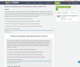 Remote Learning Plan: Descriptions Grade Levels 9-12