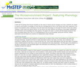 The Microenvironment Project: Featuring Phenology