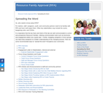 Resource Family Approval (RFA) online educational resources from CalSWEC