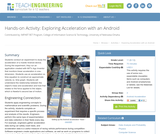 Exploring Acceleration with an Android