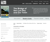 The Bridge of San Luis Rey and Our Town by Thornton Wilder - Reader's Guide