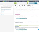 Core for Social Workers Field Activities