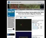 2-D Unstructured Mesh Particle-MHD Solar Wind Flow Over the Earth: Magnetic Potential