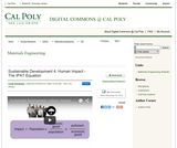 Sustainable Development 4: Human Impact - The IPAT Equation