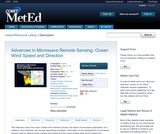 Advances in Microwave Remote Sensing: Ocean Wind Speed and Direction