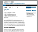 ADDIE Explained – An Open Educational Resource for the Educational Technology Community