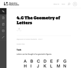 4.G The Geometry of Letters