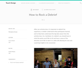 Teach Design: How to Rock a Debrief