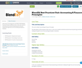 BlendEd Best Practices Unit: Accounting & Finance Principles