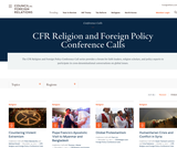 Religion and Foreign Policy Conference Calls
