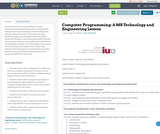 Computer Programming: A MS Technology and Engineering Lesson