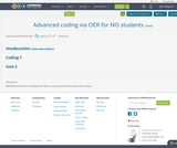 Advanced coding via OER for NIS students