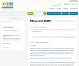 PBL project SLEEP