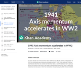 1941 Axis momentum accelerates in WW2