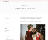 Teach Design: Evidence Based Observation