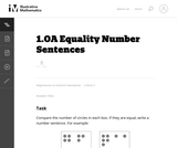 Equality Number Sentences