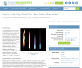 Flame Test: Red, Green, Blue, Violet?