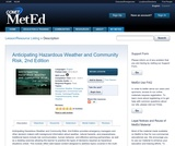 Anticipating Hazardous Weather and Community Risk, 2nd Edition