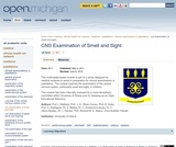 CNS Examination of Smell and Sight