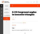 G-CO Congruent angles in isosceles triangles