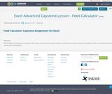 Excel Advanced Capstone Lesson - Feed Calculator