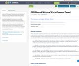 OER Shared Written Work Consent Form 1