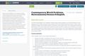 Contemporary World Problems, Environmental Science & English
