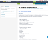 Art /Creation Station Overview