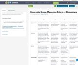 Biography Group Magazine Rubric — Elementary