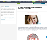 STRESS SYMPTOMS, SIGNS, CAUSES AND REMEDIAL MEASURES
