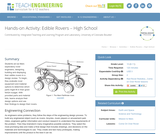 Edible Rovers – High School
